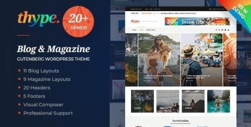 ThemeForest - Thype v1.1.4 - Personal Blog WordPress - 23164635