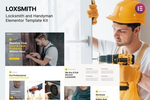 ThemeForest - Loxsmith v1.0.0 - Key & Locksmith Services Elementor Template Kit - 31644105