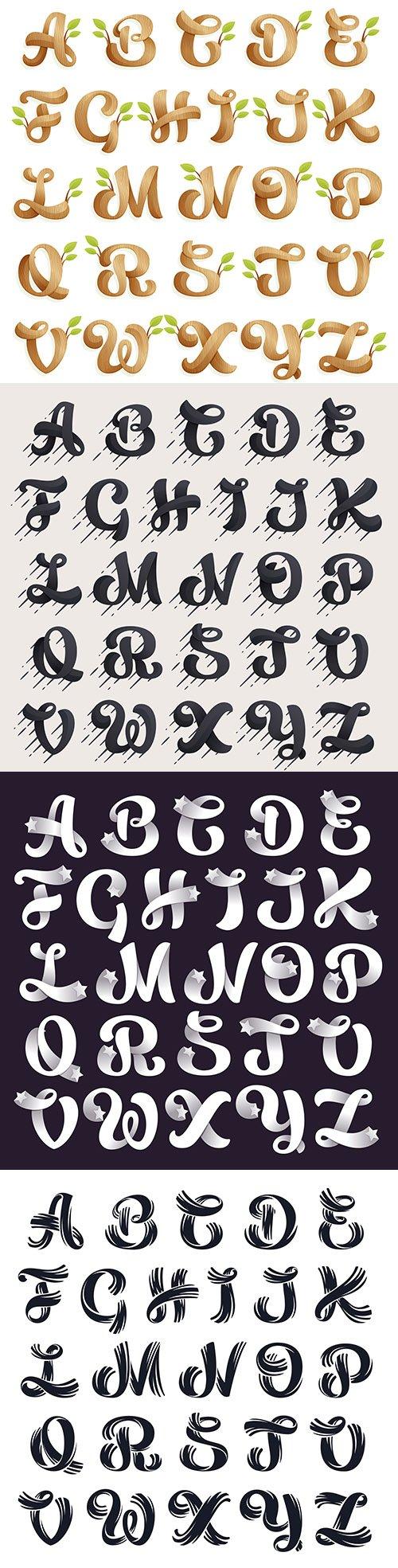 Alphabet decorative design to create logo and label