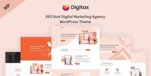 ThemeForest - Digitax v1.0.8 - SEO & Digital Marketing Agency WordPress Theme - 23484190