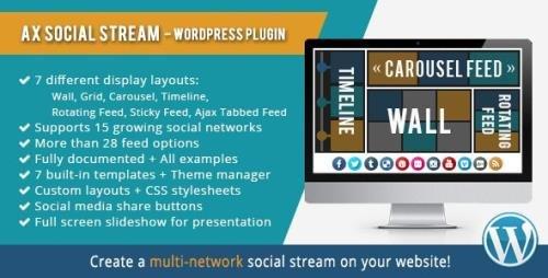 CodeCanyon - AX Social Stream v3.8.8 - 10458271