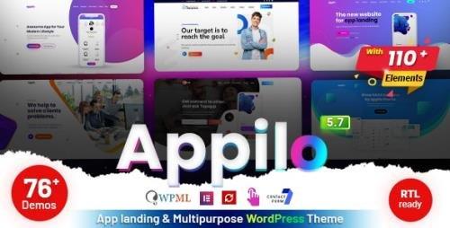 ThemeForest - Appilo v5.8 - App Landing WordPress Theme - 22358661 -