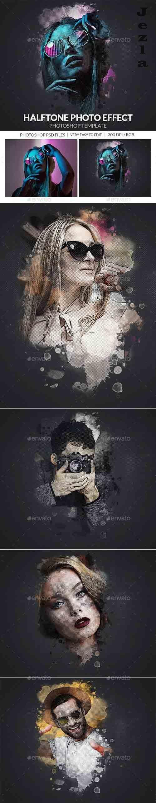Halftone Photo Effect Template - 30386664