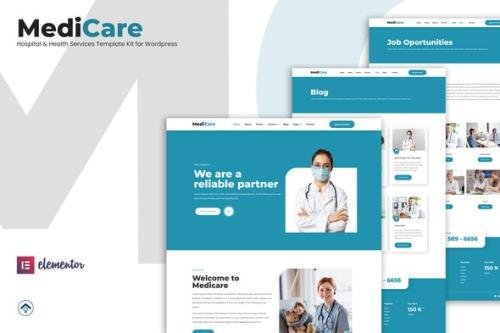 ThemeForest - MediCare v1.1.1 - Hospital & Health Service Elementor Template Kit - 31368946
