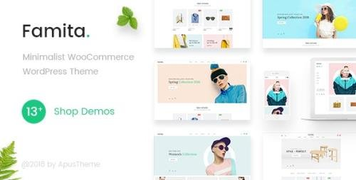 ThemeForest - Famita v1.30 - Minimalist WooCommerce WordPress Theme - 22308715
