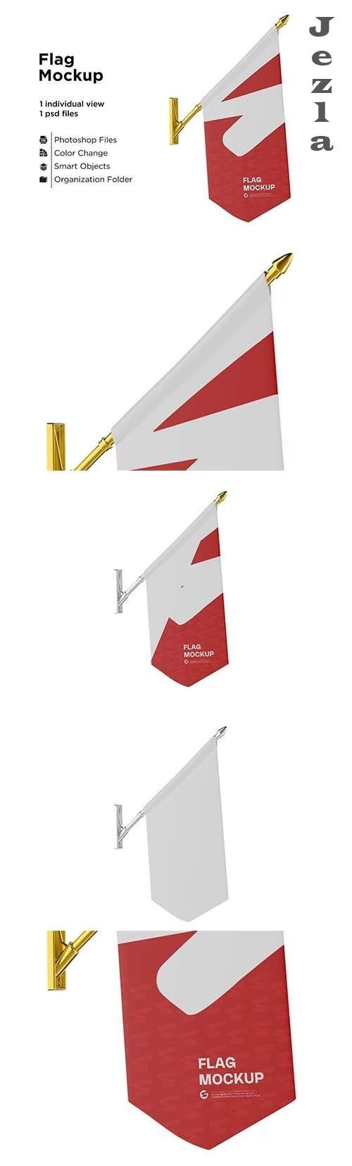 CreativeMarket - Flag Mockup 6063308