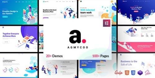 ThemeForest - Agmycoo v1.9 - Isometric Startup Creative Digital Agency WordPress Theme - 23103620