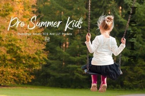 7 Pro Summer Kids Photoshop Actions, ACR, LUT Presets - 1318649
