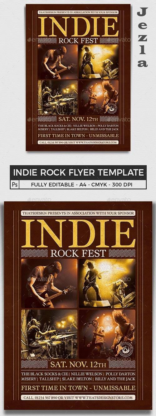 Indie Rock Flyer Template V8 - 25531252 - 4480153