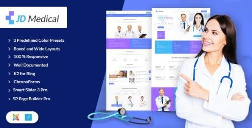 ThemeForest - JD Medical v1.5 - Responsive Healthcare Joomla Template - 20264544