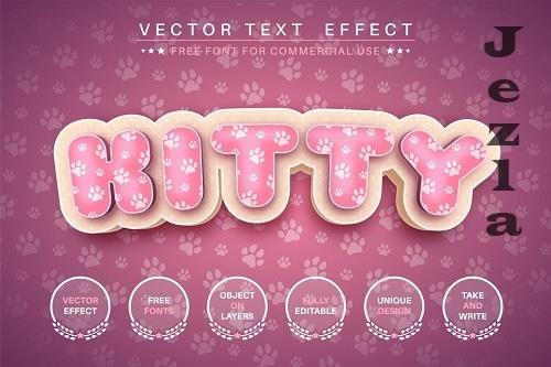 3D cat - editable text effect, font style