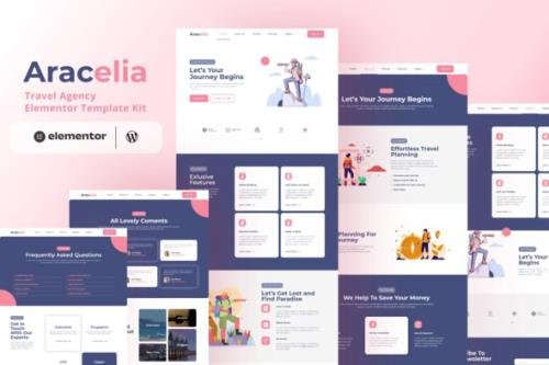 ThemeForest - Aracelia v3.011 - Travel Agency Elementor Template Kit - 31705218