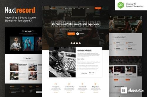 ThemeForest - Nextrecord v1.0.0 - Recording & Sound Studio Elementor Template Kit - 31732775