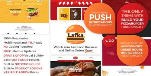 ThemeForest - Lafka v2.5.2 - WooCommerce Theme for Burger - Pizza & Food Delivery - 23969682