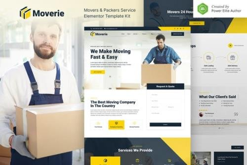 ThemeForest - Moverie v1.0.0 - Movers & Packers Service Elementor Template Kit - 31683710