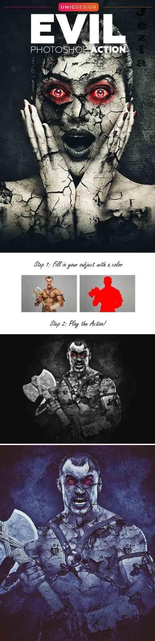 GraphicRiver - Evil Photoshop Action 20775590