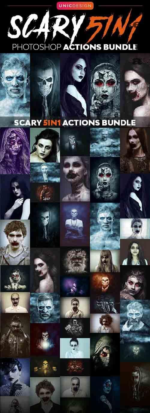 Scary 5in1 Photoshop Actions Bundle - 22720748