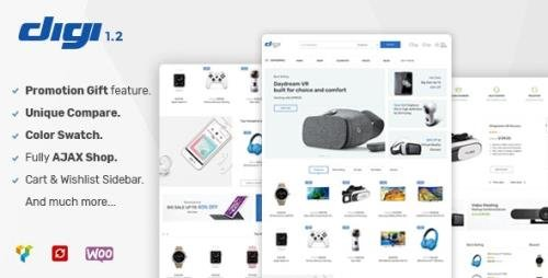 ThemeForest - Digi v1.6.2 - Electronics Store WooCommerce Theme - 20289750