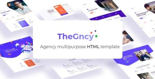 ThemeForest - TheGncy v1.0 - Multipurpose Agency HTML Template - 23162627
