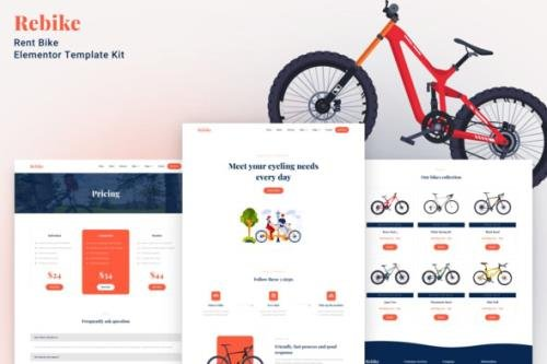 ThemeForest - Rebike v1.0.0 - Rent Bike Elementor Template Kit - 31727694