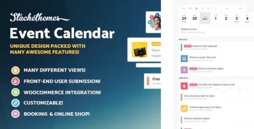 CodeCanyon - Stachethemes Event Calendar v3.2.4 - WordPress Events Calendar Plugin - 16168229 - NULLED