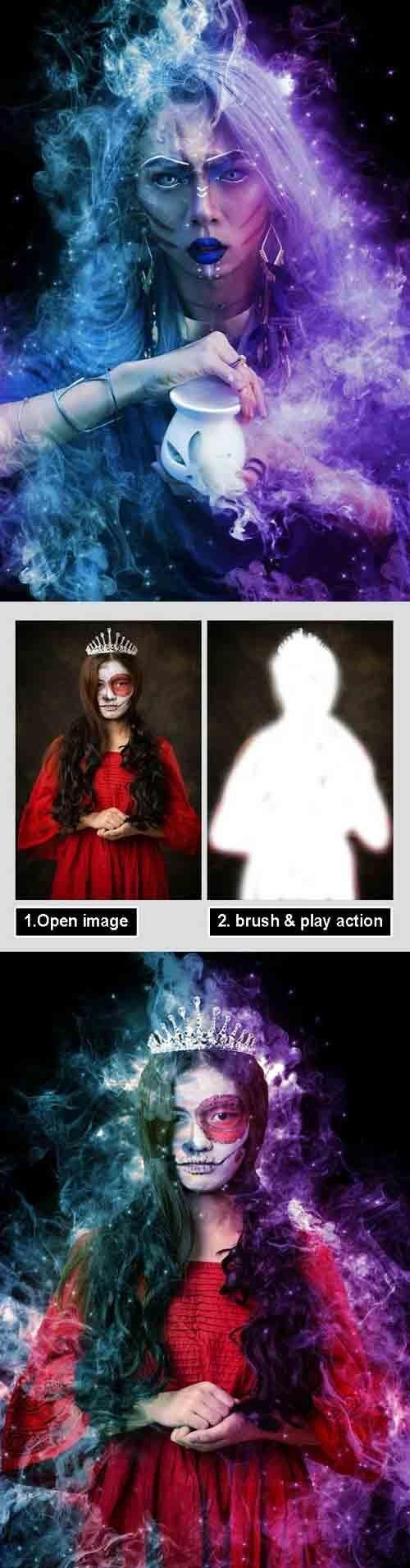 GraphicRiver - Magic Dust Photoshop Action 31098398