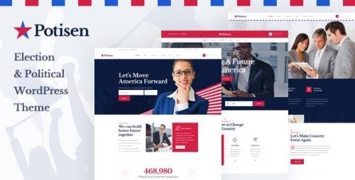 ThemeForest - Potisen v1.0.0 - Election Political WordPress Theme (Update: 23 April 21) - 25174878