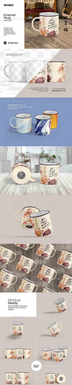GraphicRiver - Enamel Mug Mockup 31368848