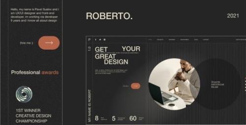 ThemeForest - Roberto. v1.0.0 - Onepage Horizontal Personal CV/Resume HTML Template - 31793749