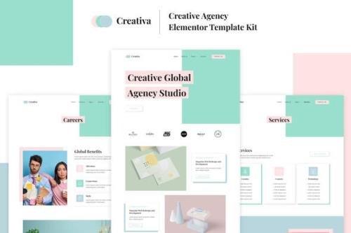 ThemeForest - Creativa v1.0.0 - Creative Agency Elementor Template Kit - 31822693