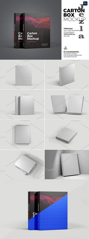 Carton Box Mockup - 8 Views - 6102134