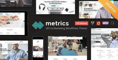 ThemeForest - Metrics v2.3 - SEO, Digital Marketing, Social Media WordPress Theme - 15625979