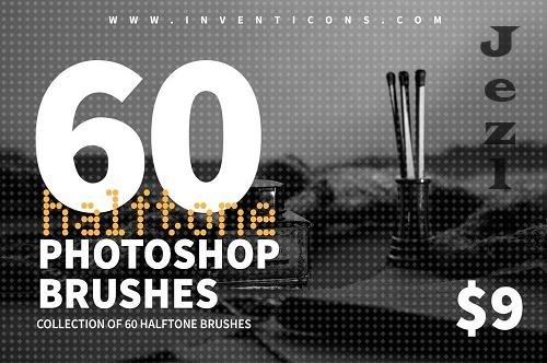 CreativeMarket - 60 Halftone PHSP Brushes 6028561