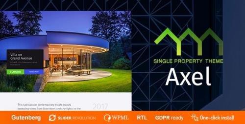 ThemeForest - Axel v1.0.7 - Single Property Real Estate Theme - 21388272