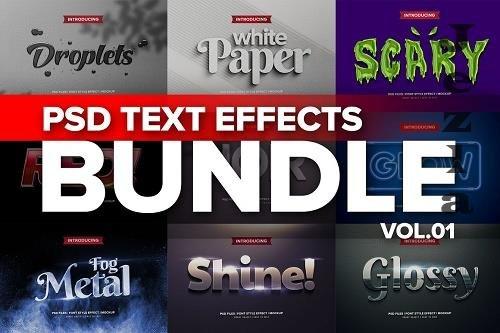 Photoshop 3D Text Effects BUNDLE 1 - 5926184