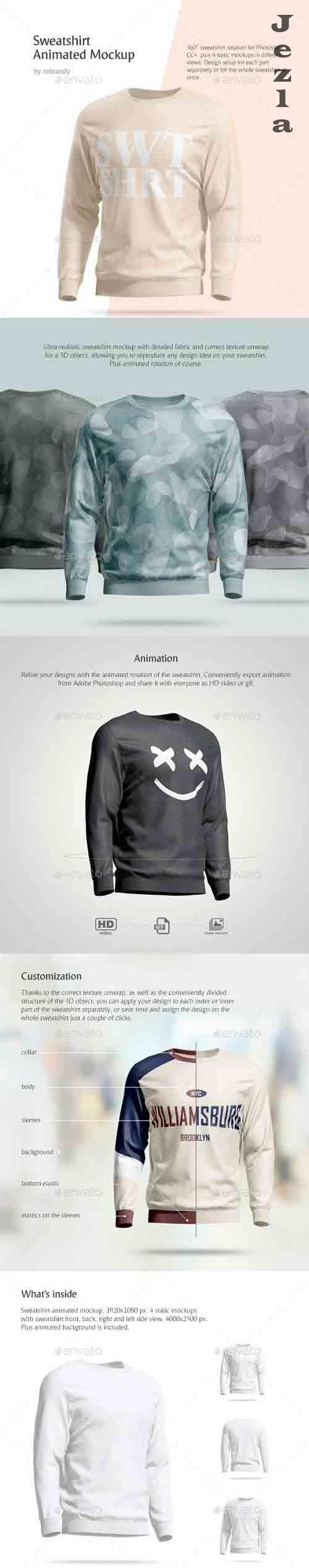 CreativeMarket - Sweatshirt Animated Mockup 4520102