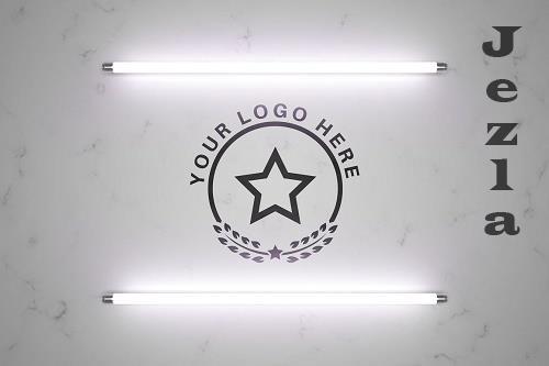 Logo in light - mockup template - 6107954