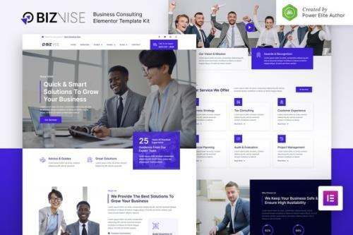 ThemeForest - Biznise v1.0.0 - Business Consulting Elementor Template Kit - 31881794
