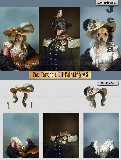 Pet Portrait Oil Background v.5 - 6120192