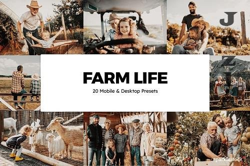 20 Farm Life Lightroom Presets & LUT - 6119284