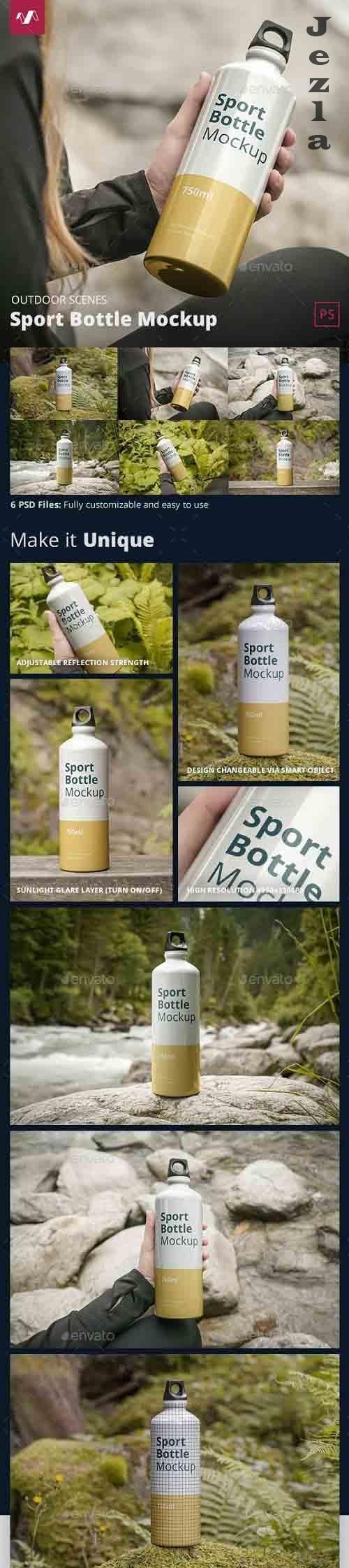GraphicRiver - Sport Bottle Mockup Outdoor Scenes 31778751