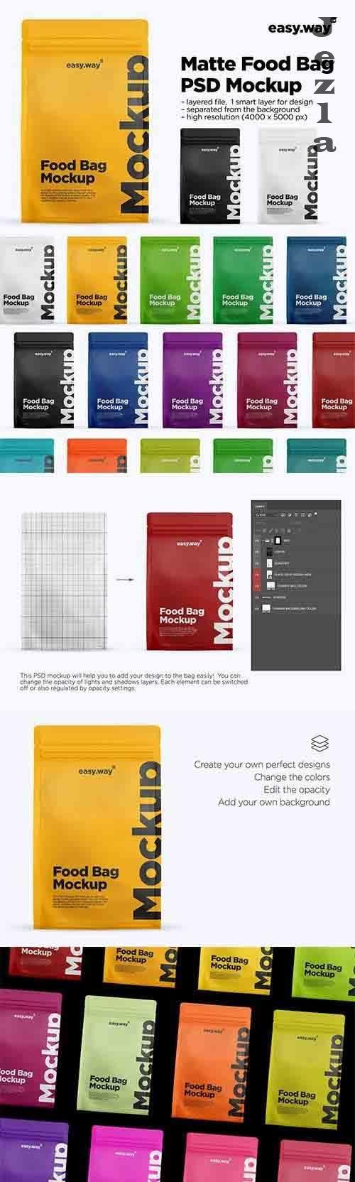 CreativeMarket - Matte Coffee Bag Mockup 5994773