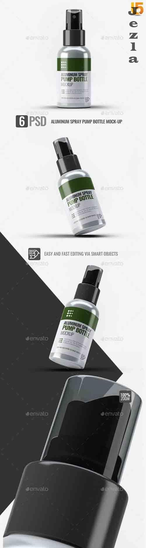 Aluminum Spray Pump Bottle Mock-Up - 31600352