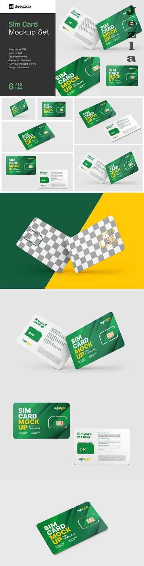 Sim Card Mockup Set 6061364