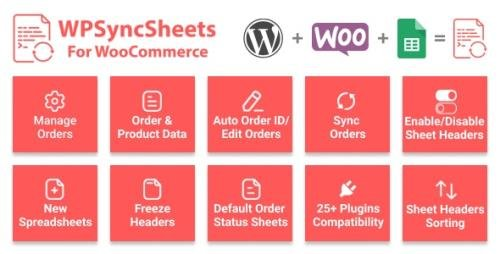 CodeCanyon - WPSyncSheets For WooCommerce v5.4 - Manage WooCommerce Orders with Google Spreadsheet - 22636997
