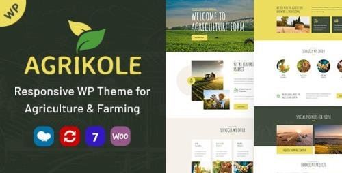 ThemeForest - Agrikole v1.8 - Responsive WordPress Theme for Agriculture & Farming - 25942937