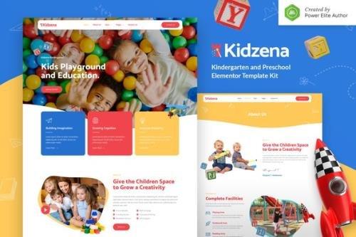 ThemeForest - Kidzena v1.0.0 - Kindergarten & Preschool Elementor Template Kit - 31897256