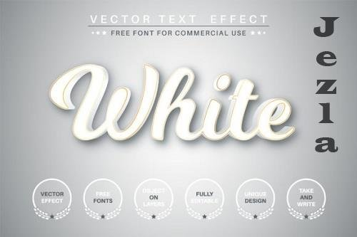 White text with gold stroke - 6126074