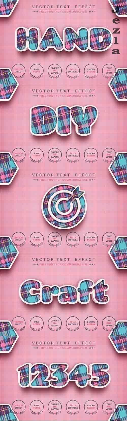 3D craft - editable text effect - 6126350