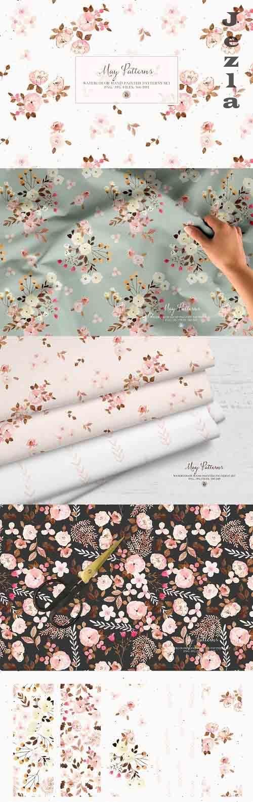 May Patterns - watercolor patterns - 6118936